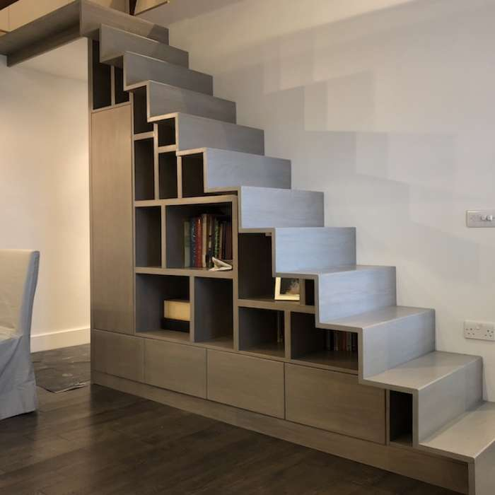 Solid Oak Book and Staircase.jpg